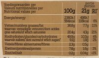 Damhert hazelnoten - Voedingswaarden - fr