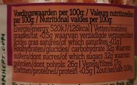 Damhert Confiture Fraise - Nutrition facts - fr