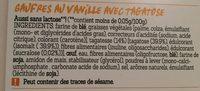Damhert Tag Wafels Vanille - Ingrediënten