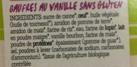 Gaufres vanille sans gluten - Ingrédients - fr
