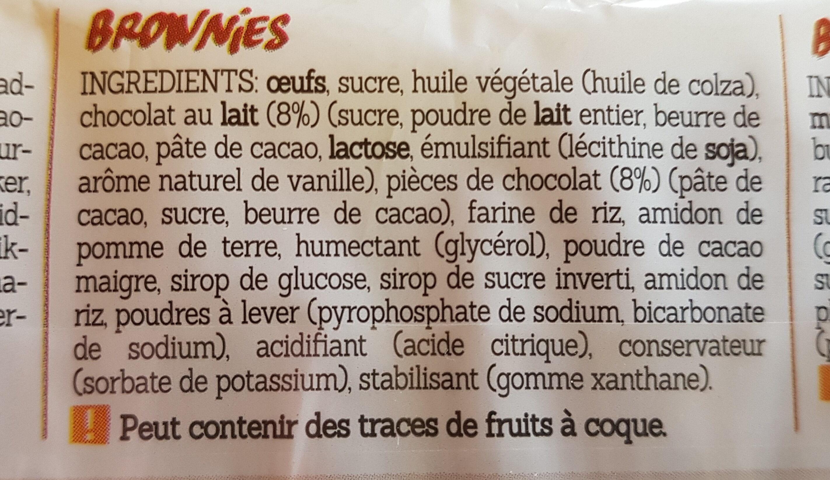 BROWNIES SANS GLUTEN - Ingredients - fr