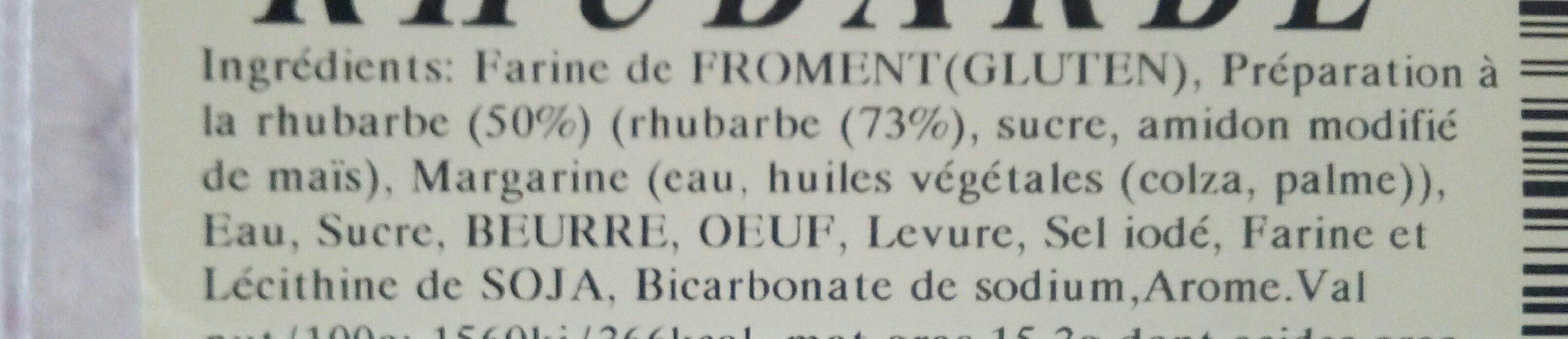 Gaufres Rhubarbe - Ingrediënten