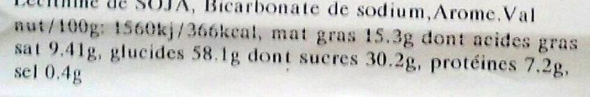 Gaufres Rhubarbe - Voedingswaarden