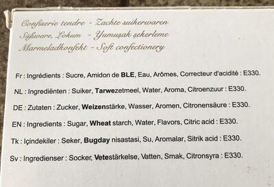 Saray loukoums nature - Ingredients