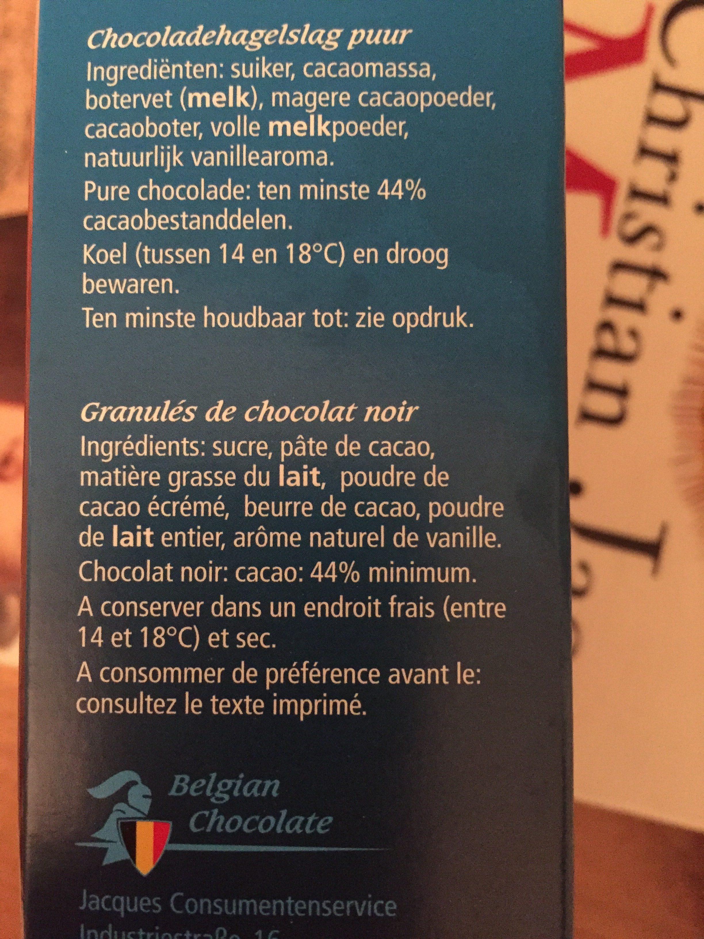 Granulés de Chocolat Fondant - Ingredients