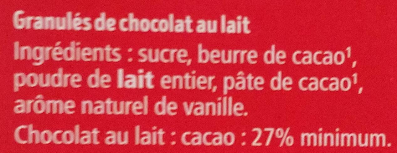 Granulés lait - Ingrédients - fr