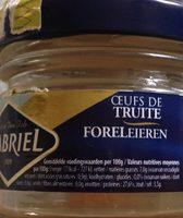 Oeufs de truite - Ingrédients - fr