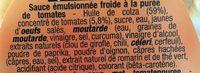 Adalouse Sauce - Ingrédients - fr