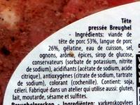 Tête pressée - Ingredients