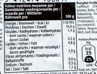 Tête pressée - Voedingswaarden - fr