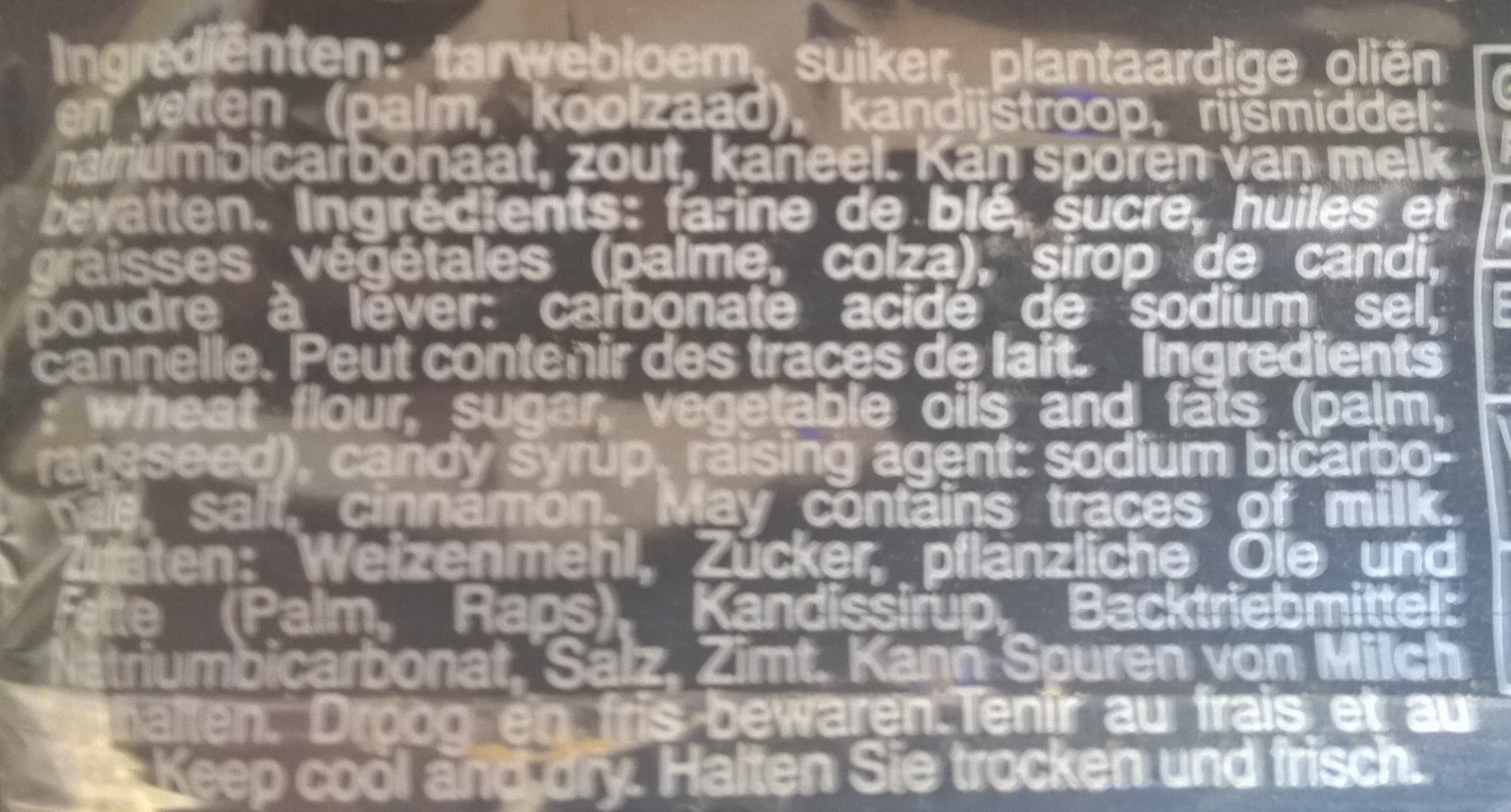 Speculoos - Ingrédients - fr