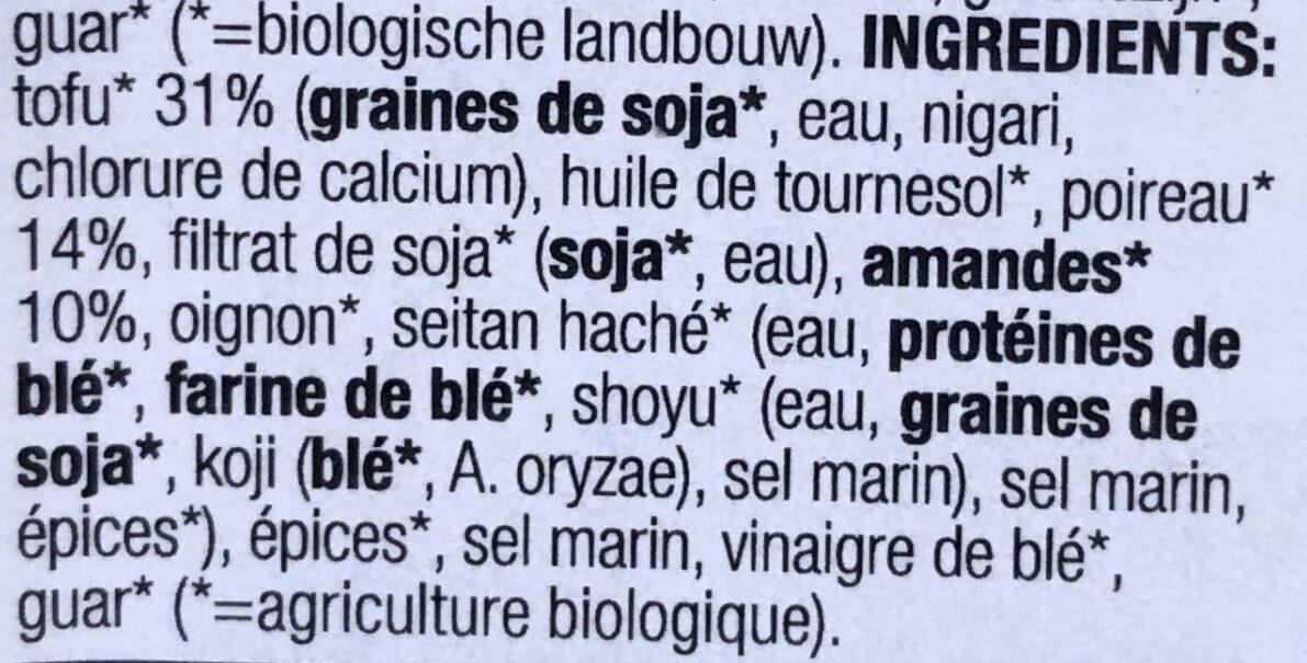 Tofusalade Amandel Prei - Ingrediënten - fr