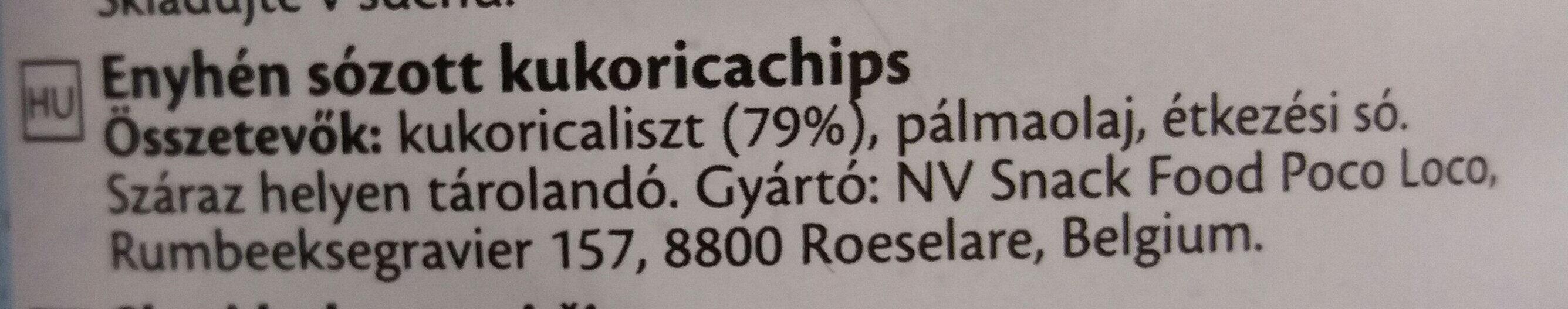 Tortilla chips - Ingredients - hu