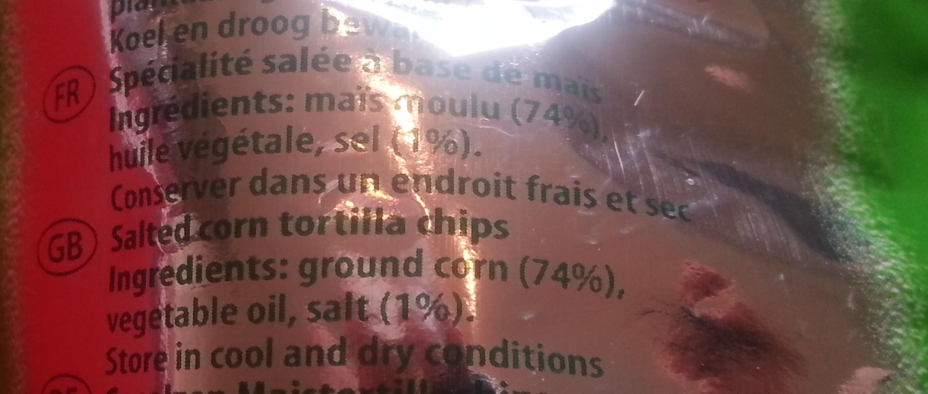 Tortilla Salted - Ingrediënten