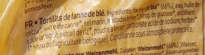 Tortillas Nature - Ingredients - fr