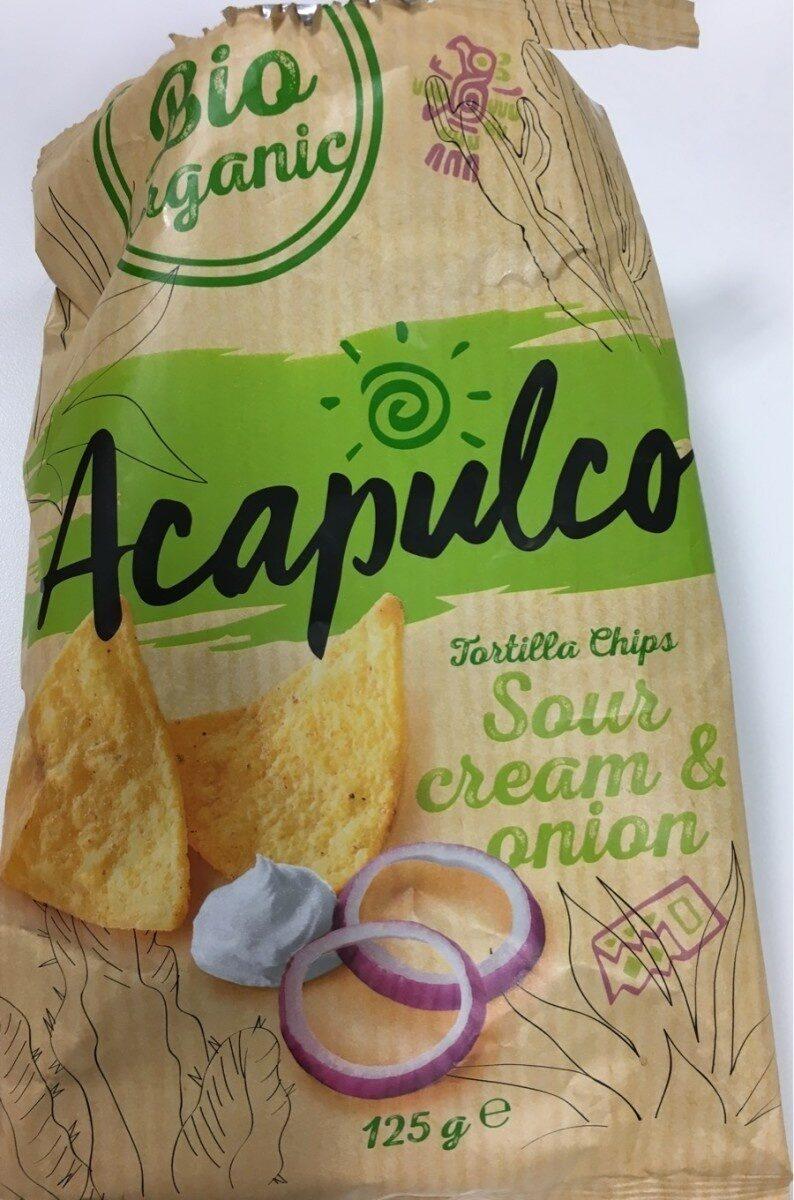 Tortilla BIO chips Sour Cream & Onion - Produit - fr
