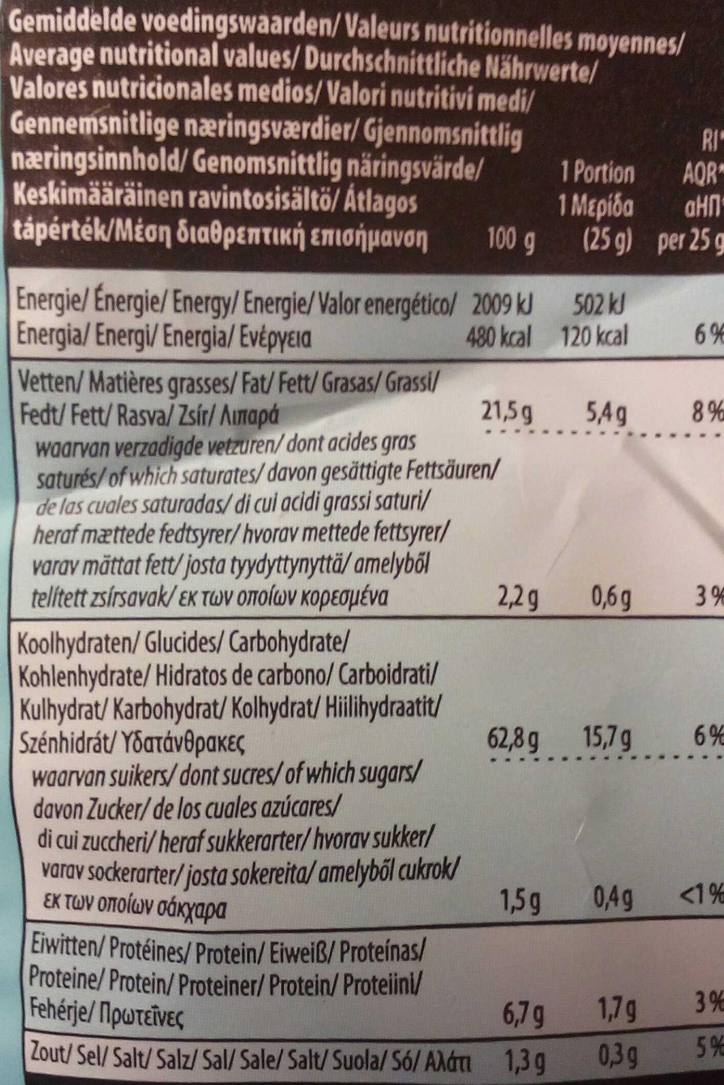 Tortilla BIO chips Sour Cream & Onion - Informations nutritionnelles - fr