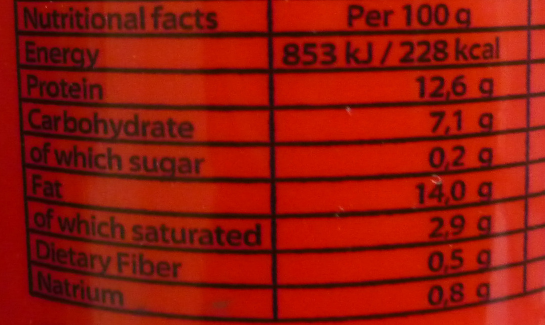 Halal Time Piquant - Nutrition facts - fr