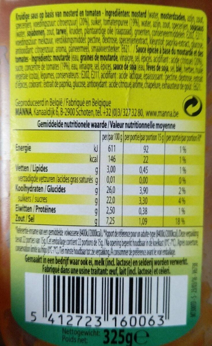 Martino saus - Informations nutritionnelles - fr