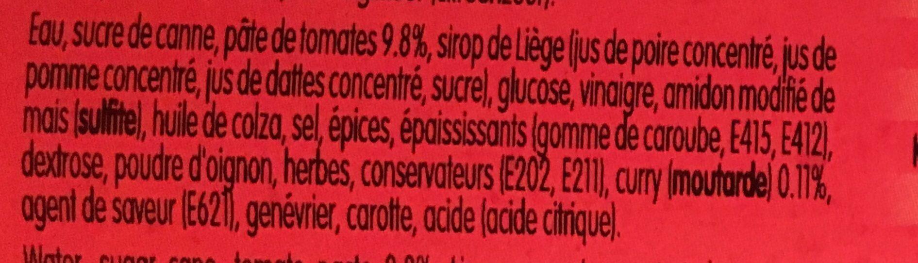 Curry - Ingrédients - fr