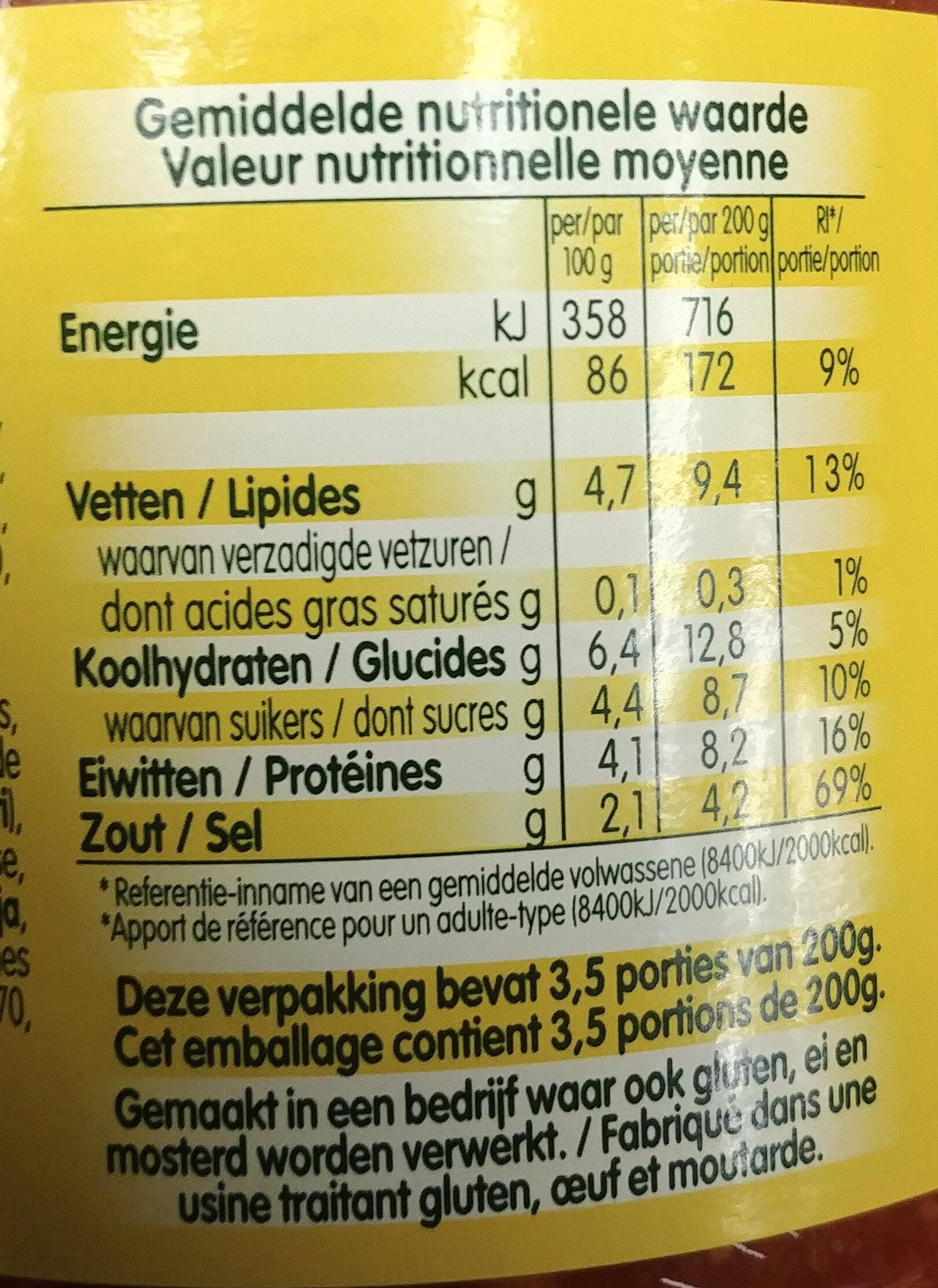 Sauce bolognaise - Voedingswaarden - fr
