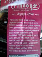 Palets aux perles de sucres - Ingredienti - fr