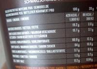 Pâte a tartiner au chocolat noir - Voedingswaarden - fr
