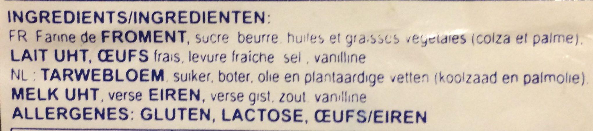 Gaufres au sucre - Ingrédients - fr