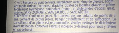 Pez - Ingrédients - fr