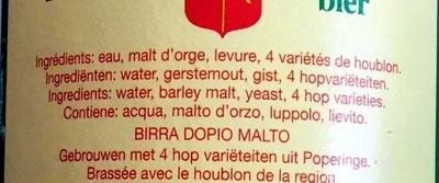 Poperings - Ingredients - fr