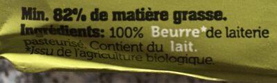 Beurre biologique de laiterie - Ingredients - en