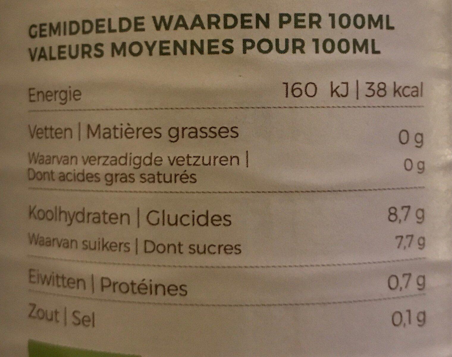 Mélange de jus de légumes - Voedingswaarden - fr