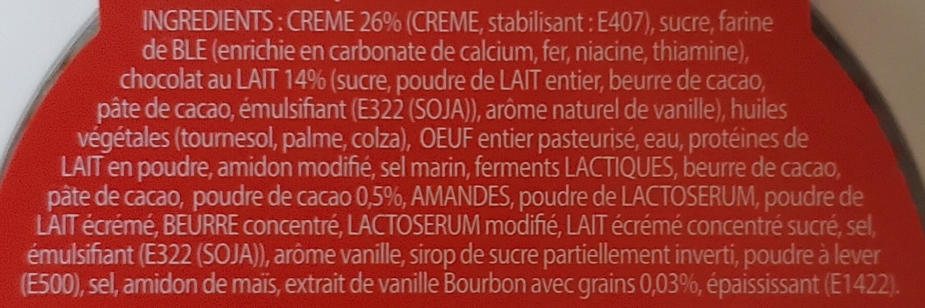 Daim cheesecake - Ingredienti - fr