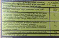 Chocolat - Información nutricional