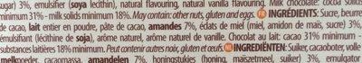 Chocolat Au Lait Amande Miel - Ingrediënten