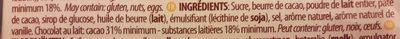 Chocolat au lait caramel et fleur de sel - Ingredients