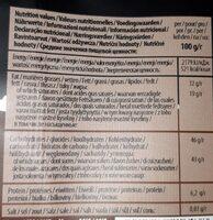 Dark chocolate cachet - Informations nutritionnelles - fr