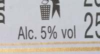 Blanche - Nutrition facts - fr
