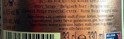 Bière belge artisanale - Ingrediënten - fr