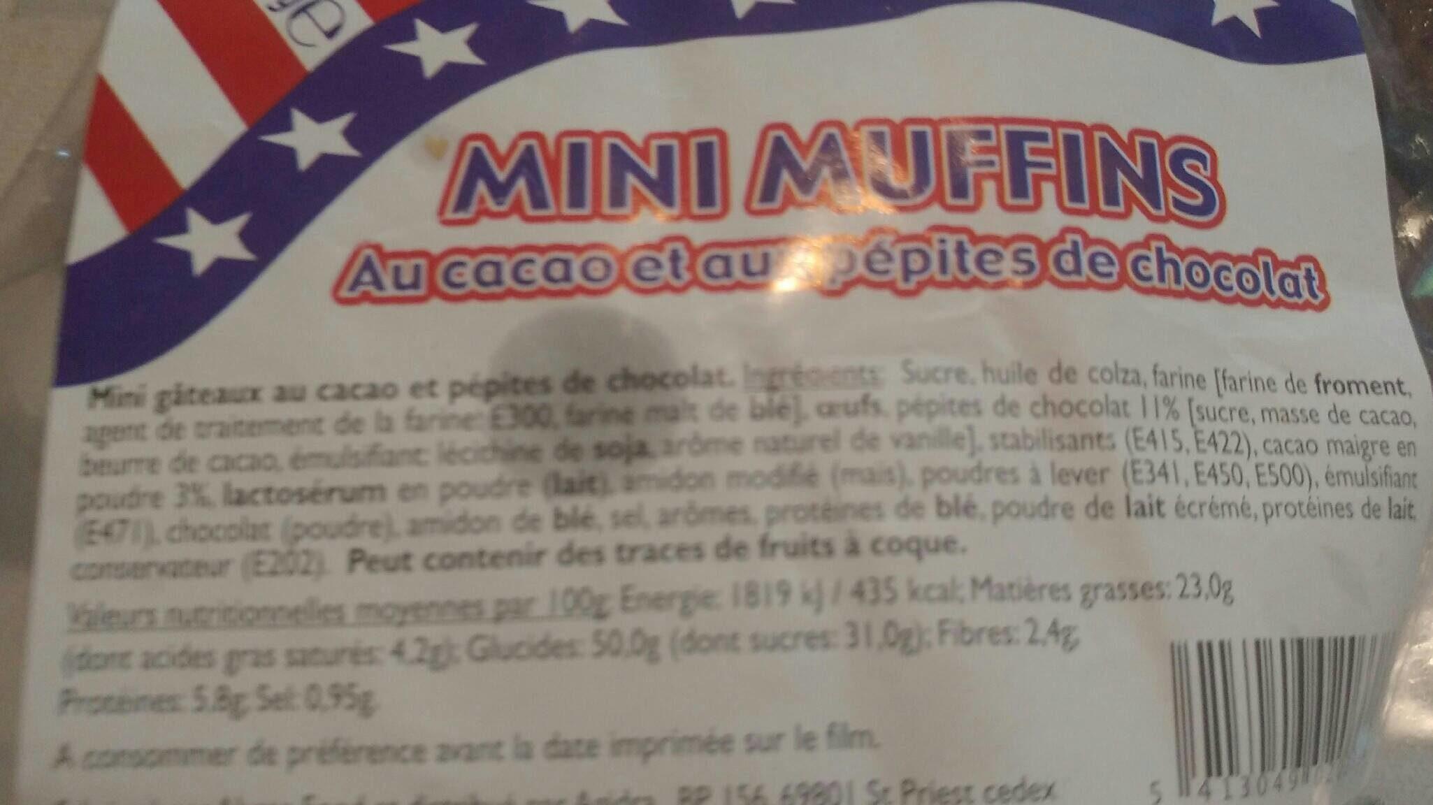 Mini muffins au cacao et aux pépites de chocolat - Produit