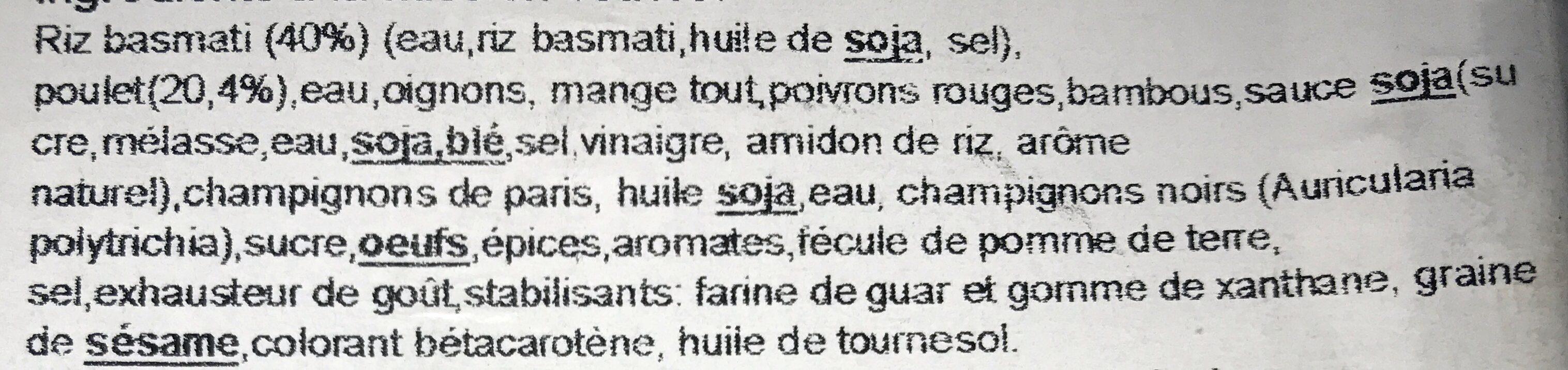Poulet Pékin & Riz - Ingrédients - fr