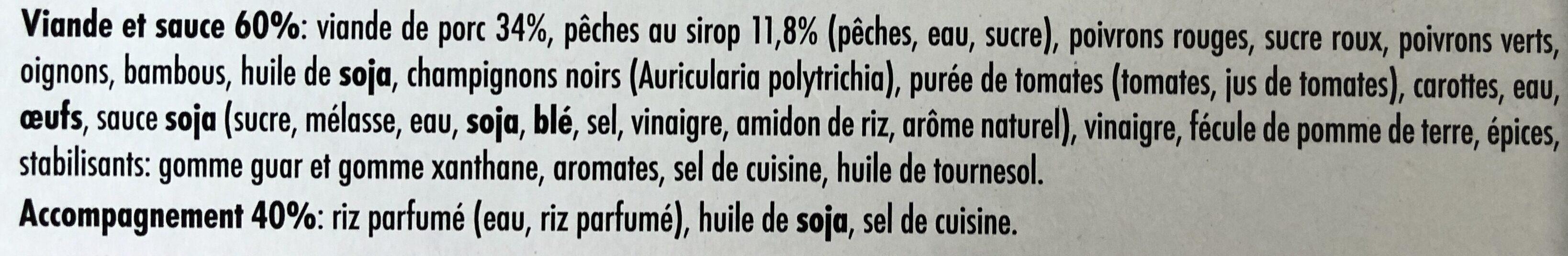Porc Shangaï et Riz Parfumé - Ingrediënten - fr