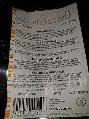 riz cantonnais - Produit - fr