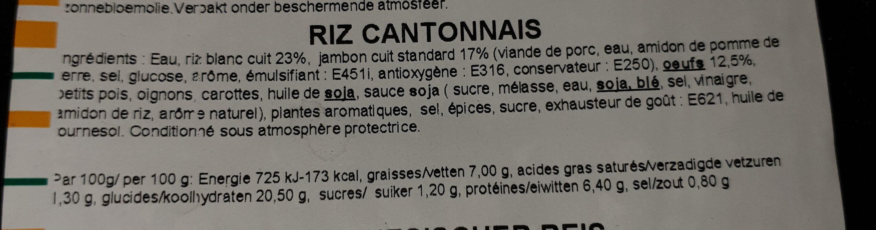 riz cantonnais - Ingrédients - fr