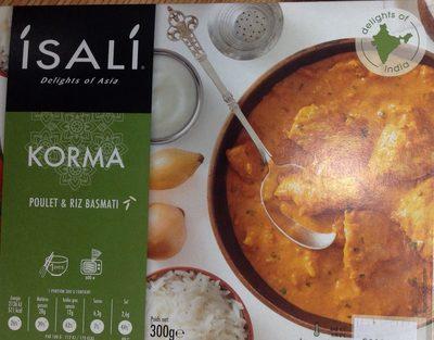 Poulet Korma et Riz Basmati Isali   calories et informations ... e99c236e215