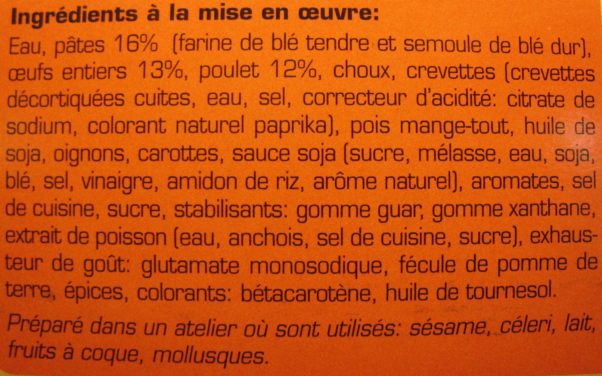 Nouilles Royales Bami Goreng - Ingrediënten - fr
