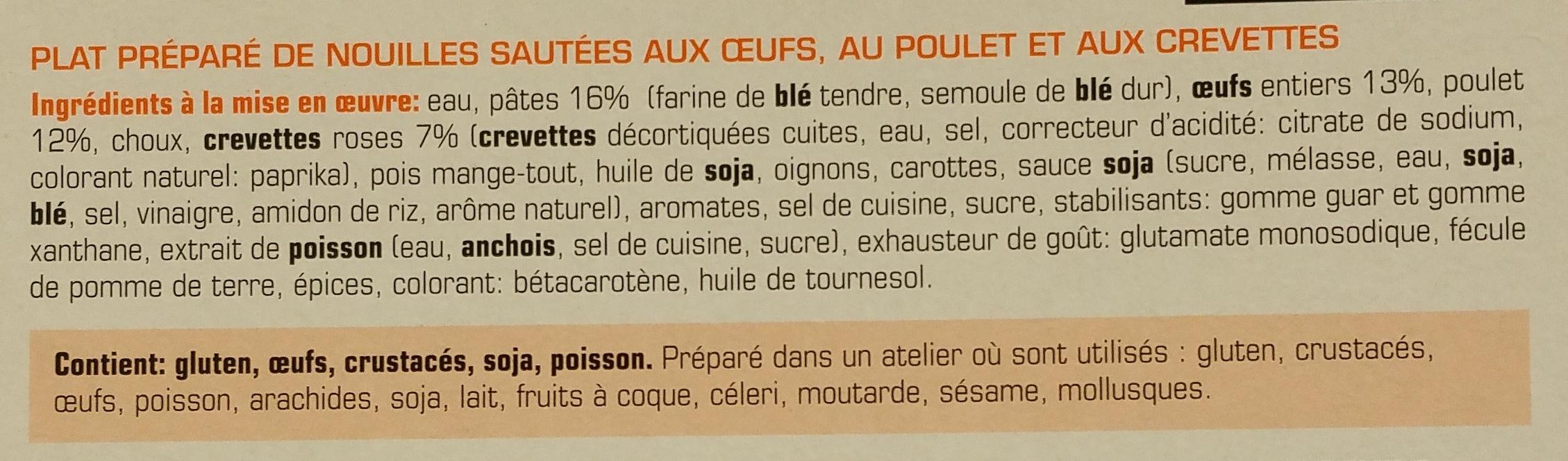 Nouilles Royales Bami Goreng - Ingrediënten