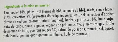 Nouilles Thaï - Ingrédients - fr