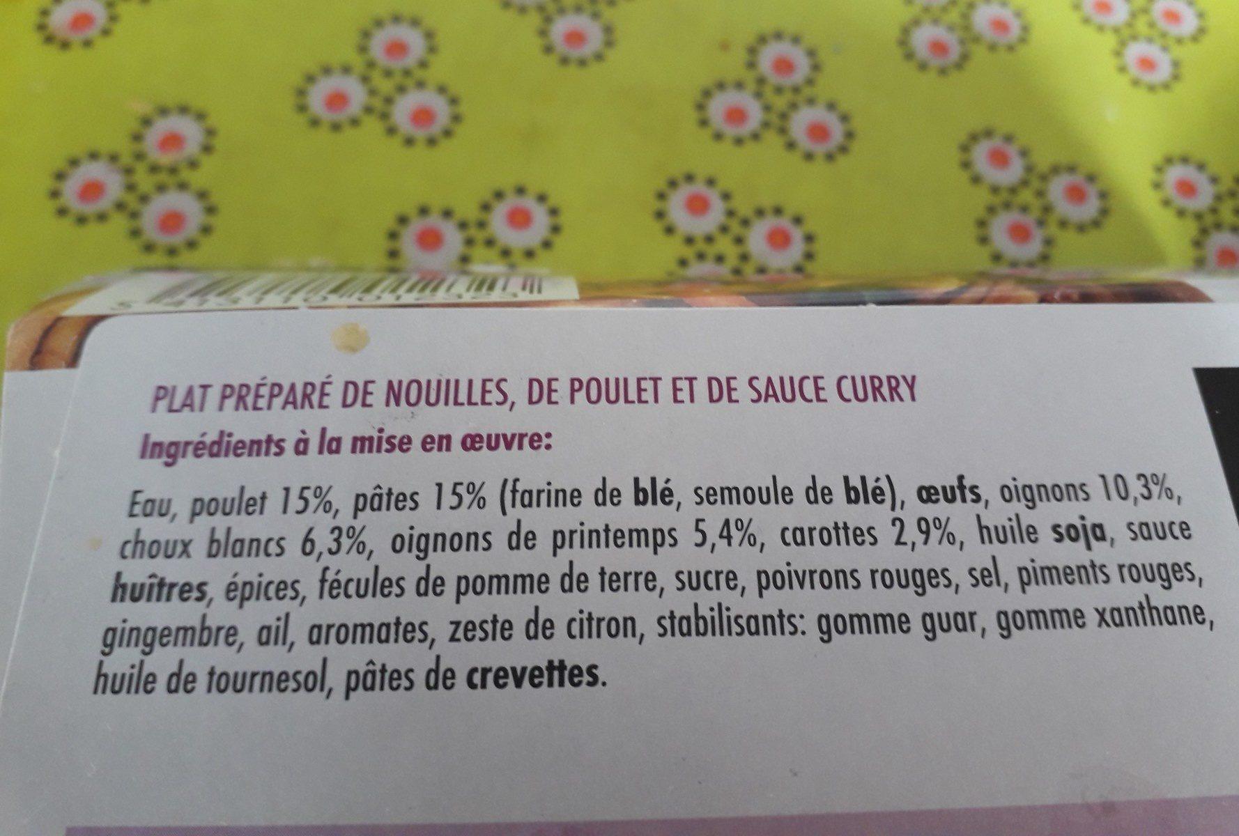 Nouilles au curry TOP AFFAIRE - Ingrediënten - fr