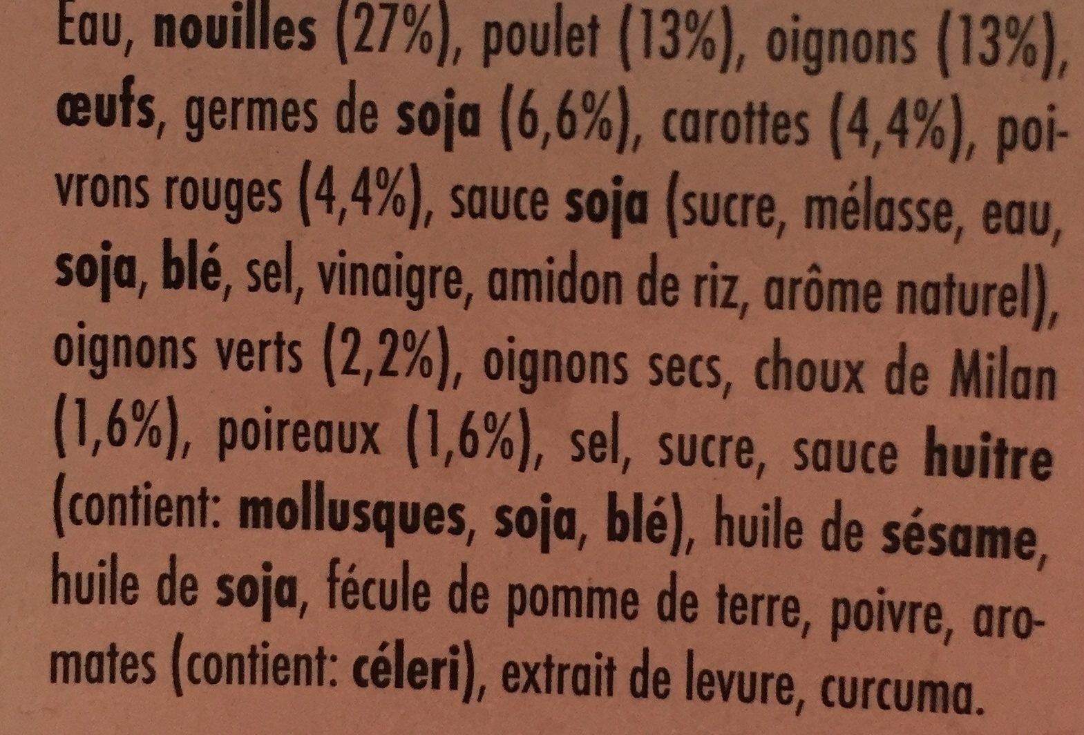 Wok nouilles - Ingrediënten - fr